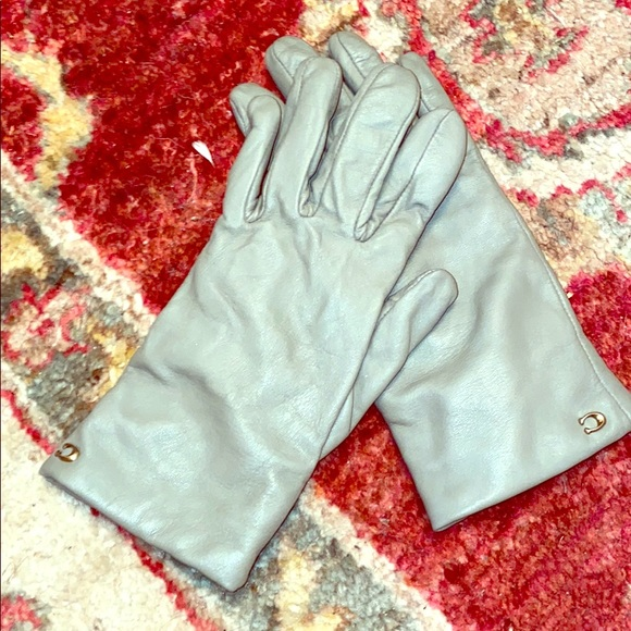 Coach Leather 100% Wool Tech Gloves - size 6.5